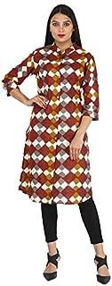 6TH AVENUE STREETWEAR Women's Rayon Printed Kurti