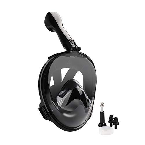 GARDOM Máscaras de Buceo Cara Completa - Máscaras de Snorkel Vista de 180 ° con Correas Ajustables & Respiración Fácil & Antivaho Antifugas & Soporte de Cámara Desmontable para Niños Adultos