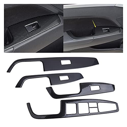 HAIQING Piano Sea 4pcs Carbon Fiber Style Window Switch Panel Tray Fit para Hyundai Elantra 2017-2020