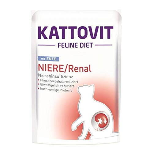 Kattovit Feline Diet Niere/Renal Ente, 85 g - 24 stück