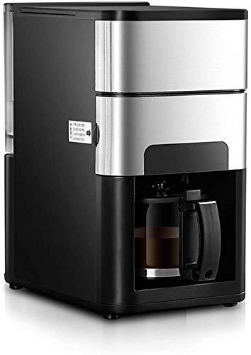 Couyy Huishoudelijke volautomatische koffiemolen, roestvrij staal programmeerbaar, stille werking, anti-druppelinstelling, huishouden en kantoor filters