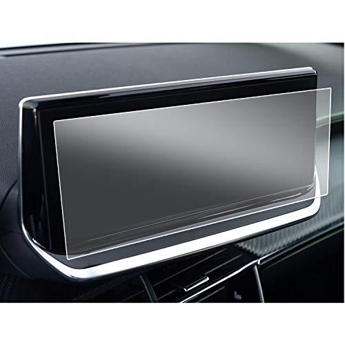 SHAOAHO - Pellicola protettiva per navigatore auto, per Peugeot 208 e-208 2008 e-2008, 10 pollici, GPS, PET trasparente, antigraffio, anti-impronte, 2 pezzi