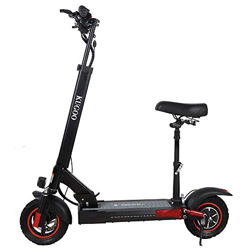 Patinete Eléctrico Plegable con Asiento, Electric Scooter para Adultos, Motor 500W Velocidad...