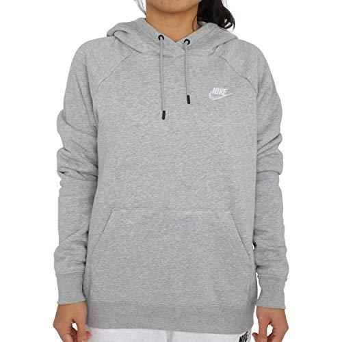 Nike Damen Sportswear Essential Hoodie, Dark Grey Heather/White, S