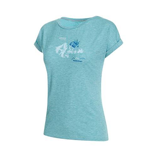 Mammut Damen Mountain T-Shirt, Waters Melange PRT3, XS