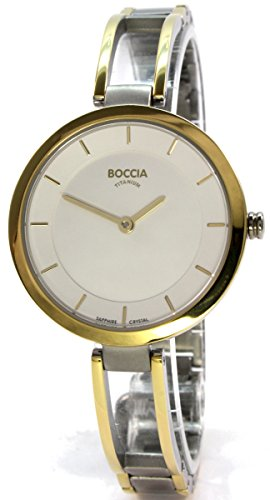Boccia Damen Analog Quarz Uhr mit Titan Armband 3264-03