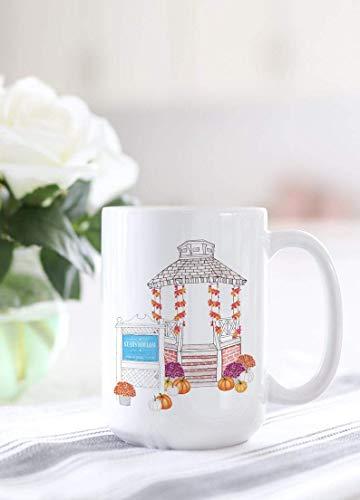 Gilmore - Taza de café con diseño de estrellas huecas para niñas, regalo de bloger, diseño de acuarela