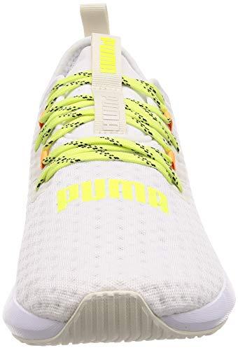 Puma Hybrid NX Daylight, Zapatillas de Running Hombre, Blanco White-Orange Pop-Fizzy Yellow, 43 EU