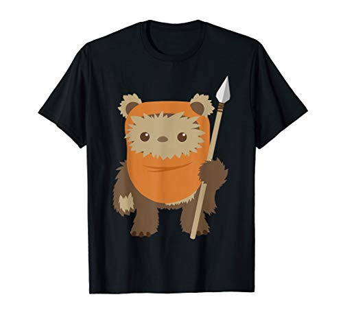 Star Wars Ewok Cute Cartoon Portrait T-Shirt