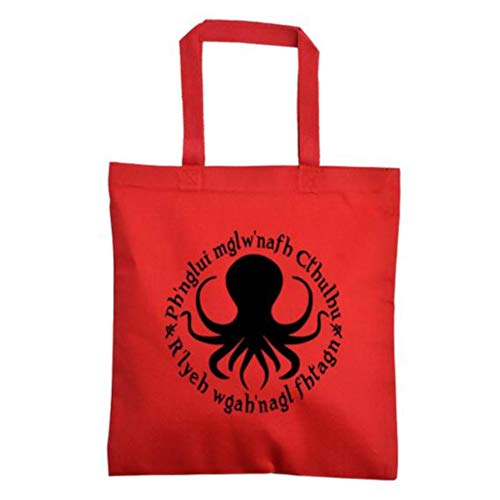 Cthulhu Fhtagn Eldritch HP Lovecraft Elder Sign Sci Fi Horror Canvas Tote Bag Merch Massacre
