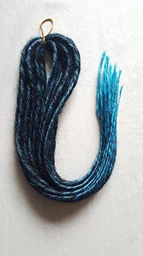 Elysee Star Dreads Schwarz Hellblau Übergangszeit Dreadlocks Doppelseitige synthetische Dread
