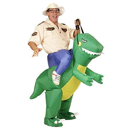 Widmann 11010507 Aufblasbares Kostüm Dinosaurier, mens, One Size