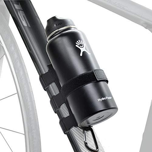 Upgrade Portable Bike Water Bottle Holder for Most Hydro Flask Bottles, Adjustable Bike Strap Attachment Accessory Holder Bar Rail for Most Bluetooth Speaker Anker JBL Charge Doss