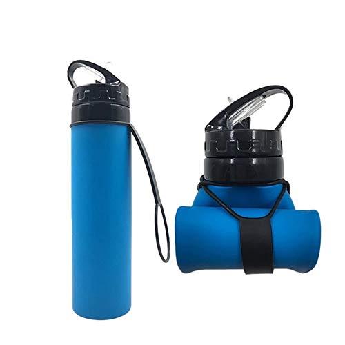 Bidon Bicicleta Vaso De Agua Plegable Botellas De Agua Reutilizables For Fitness,...