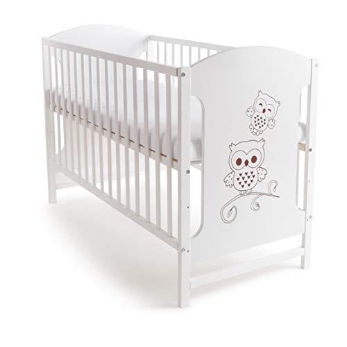 Niuxen DV-04 Baby Bett Kinderbett 120x60 höhenverstellbar Schlupfsprossen (mit...