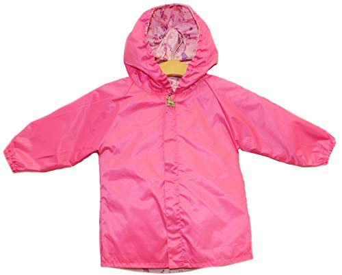 Frenchie Mini Couture Pink Princess Reversible Rain Coat (18-24, Pink/Princess)