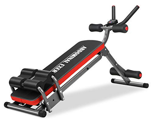 Multifunctional Foldable Ab Exercise Bench, Core& Abdominal Home Gym Trainers Abdominal Workout...
