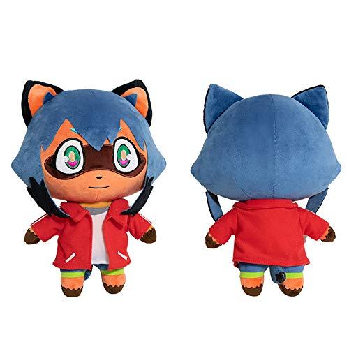 Animal Plush Doll Stuffed Animal Plush Toy Raccoon Plush Anime Kagemori Michiru plushie (Red)