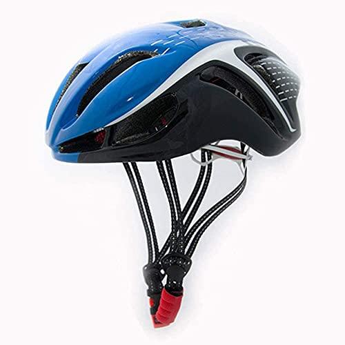 ZRDSZWZ Reliable Bike Helmet, Road Mountain Cycle Helmet for Men And Women, Lightweight Adjustable Bike Helmet Integrated Molding Helmet Safety Protection, 56~62Cm,Blackblue ( Color : Blueblack )