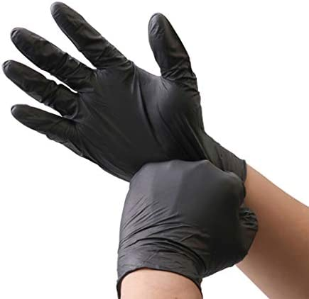 KOMI 100Pcs Disposable Nitrile Gloves for Exam Gloves Powder Free Kitchen Food Safety Cleaning product image