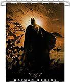 Batman: Hour of War Duschvorhang Schimmelresistente wasserfeste Polyestergewebe Extra Lange Badezimmer-Duschvorhänge mit Haken, maschinenwaschbar & schwerem Saum 78.74