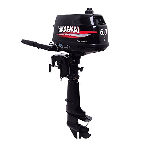 NICECHOOSE Outboard Motor,6HP 2 Stroke Marine Outboard Motor Inflatable Fishing Boat Superior Engine Short Shaft with Water Cooling CDI System (US Shipping)