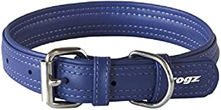 Rogz Leather Buckle Dog Collar, Purple, Large
