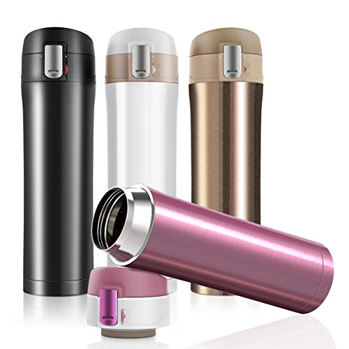 JUMKEET Double Walled Vacuum Cup Flask Thermo,Stainless...