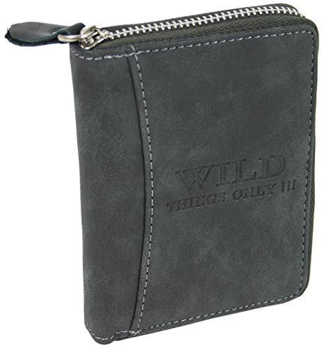 Heren portemonnee portemonnee met ritssluiting muntvak en kaartvakken