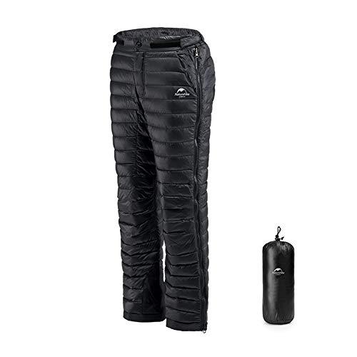 Tentock Winter Warme Gänse Daunenhose für Damen Herren, Ultraleichte Schneehose Kompressions Daunenhose Outdoor Camping Skihose Isolierte(L)