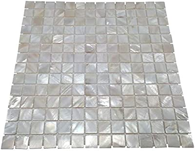 Oyster Mother Of Pearl Square Shell Mosaic For Kitchen Backsplashes Bathroom Walls Spa Tile Pool Tile Pack Of 5 Sheets Home Kitchen