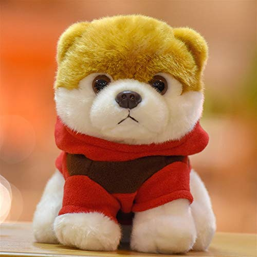 HUOQILIN Akita-Hund Niedlichen Plüschtiere Simulation Tiersimulation Shiba Inu Hund Langhaarigen Hund Geschenk Design-Simulation, Wandte Sich Der Hund Kleintier-Spielzeug