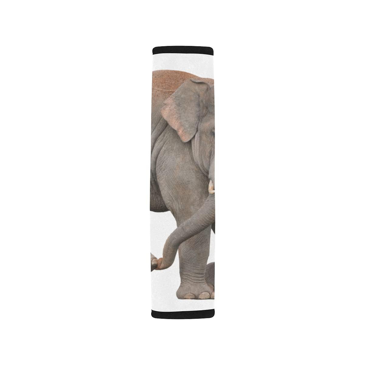Boston Mall 2pcs Dedication Car Seat Belt Cover Asian Isolated Should On White Elephant