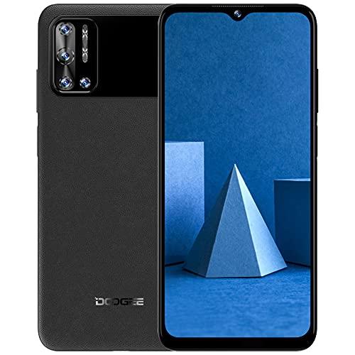 Teléfonos Moviles Libres, DOOGEE N40 Pro(2021) Smartphone Libre, 6.52 Inch, 6GB + 128GB Octa-Core,6380mAh 24W Carga Rápida, 20MP Quad Cámara Moviles Baratos, Android 11, 4G Dual SIM, GPS (Negro)