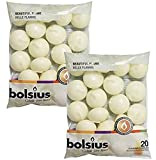 Bolsius Unscented Floating Candles – Set of 40 Ivory Floating Candles 1.3/4 Inch – Elegant Burning Candles – Candles with Nice and Smooth Flame – Party Accessories