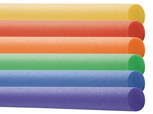 EXPLORER Poolnudel Schwimmnudel 160x7 cm aus PU-Schaum Pool-Noodle Schwimm-Noodle zum Schwimmen Planschen (2 Stück, Sortiert)