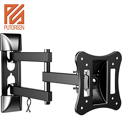 PUTORSEN® Soporte Monitor Giratorio Inclinable, Soporte de Pared para Monitor para la Mayoría de los 13-35 Pulgadas LED, LCD Monitor de hasta VESA 100x100mm y 15kg