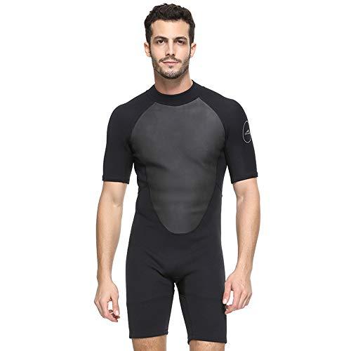 FLH Deportes Traje de Buceo de Cuerpo Completo Traje de Neopreno de 2 mm Protección UV Mangas largas Traje de baño para Pesca submarina, Snorkel, Surf, Canoa,Black,XXXL