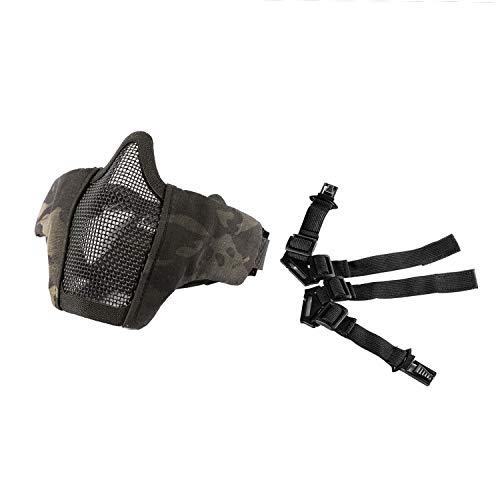OneTigris 6' Tactical Foldable Half Face Mask Protective Mesh Mask for Airsoft...