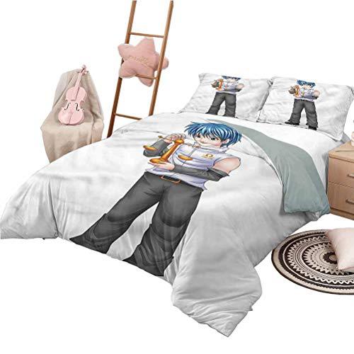 Nomorer Bedding Sets Twin Size Anime Bedroom Decoration Bed Set Zodiac Symbol Libra Boy