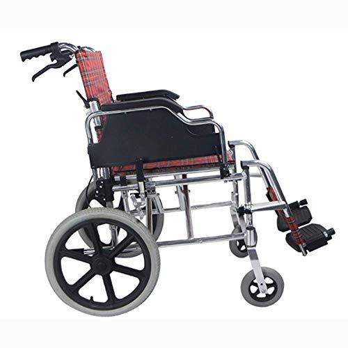 OSL Silla de ruedas plegable liviana Ancianos discapacitados Silla de ruedas de viaje Trolley para ancianos, conducción médica Suministros médicos para adultos Discapacitado OSL