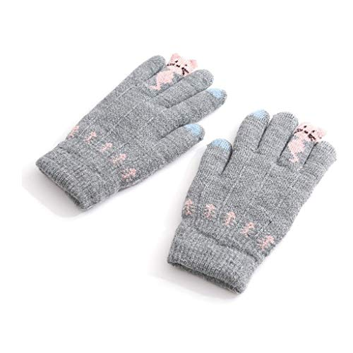 ZXC Home Handschuhe Go Out Haushalts windundurchlässiges Thick Rohbaumwolle Elastic Kinder Handschuhe Tragbarer Warm, Grau