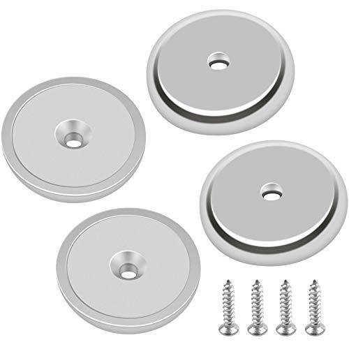 FINDMAG 4 Stück 32x5 mm Neodym Magnet, Magnete Stark, Magneten, Magnethalter, Büro-Magnete, Neodym Magnete Extra Stark, Starker Magnet für Mehrzwecknutzung, Senkkopf-Topfmagnet mit 4 Schrauben