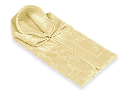 Belpla Baby Sac Baby Sac Babydecke Ster Säckchen, 100% Polyester, gelb, 80x 90cm