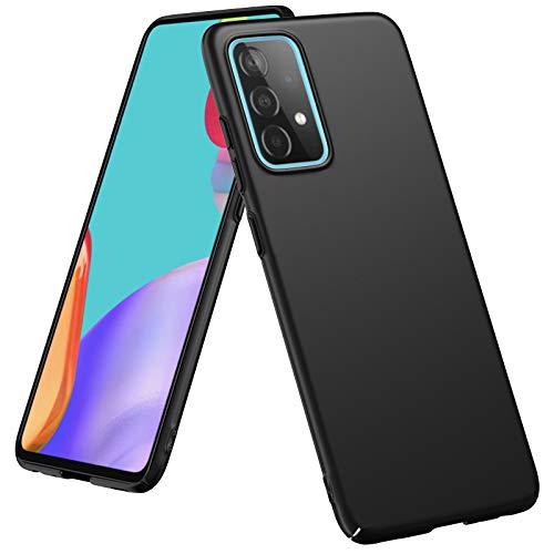 SHINEZONE Funda Compatible con Samsung Galaxy A52 5G, Funda Fina Negra Mate para teléfono móvil, Funda Protectora de diseño Elegante Funda Resistente Cover para Samsung Galaxy A52 5G(Negro)
