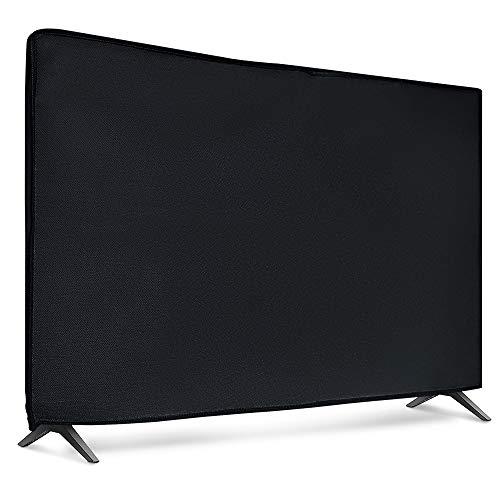 "kwmobile Funda Compatible con Monitor 65"" TV - Cubierta Protectora Textil para Pantalla - Negro"