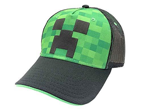 Bioworld Merchandising Minecraft Creeper Face Gorra de béisbol, Verde