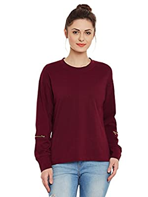 Miss Chase Womens Maroon Top