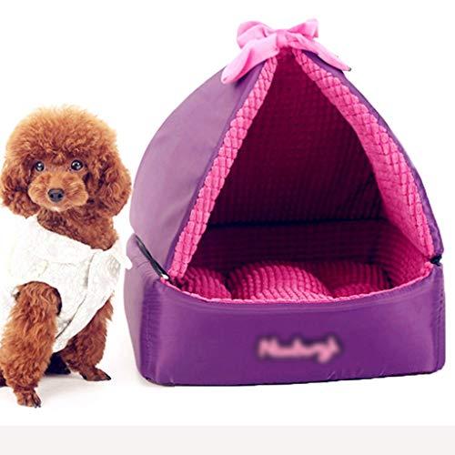 YUESFZ Hondenbed voor gesloten honden, dikke en warme matras voor katten en honden, hondenkussen, duurzaam en draagbaar