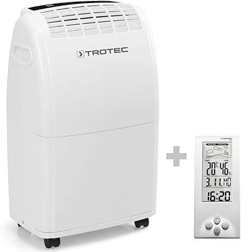 TROTEC Deshumidificador eléctrico TTK 75 E, 20L, Depósito 3L, Habitaciones de 45m², Filtro de Aire, Extra Silencioso,...
